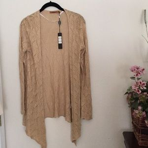 NWT Belldini gold open knit cardigan